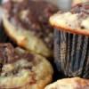 Chokolade muffins med banan og nutella