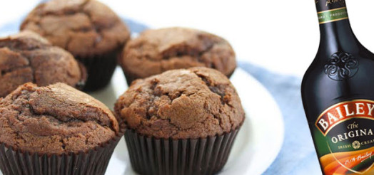 Chokolade muffins med Bailey