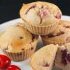 Chokolade muffins med kirsebær