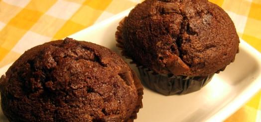 Chokolade muffins med appelsinkrokant