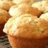Muffins med hvid chokoladestykker