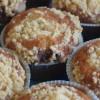 Æble- og kanelmuffins med drys