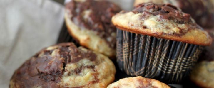 Post image for Chokolade muffins med banan og nutella