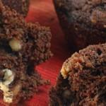 Chokolade muffins med 3 slags chokolade