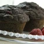 Chokolade muffins med Oreo og hindbær
