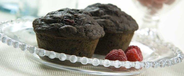 Post image for Chokolade muffins med Oreo og hindbær