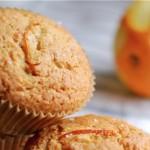 muffins med hvidchokolade og appelsin