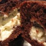 Chokolade cheesecake muffins