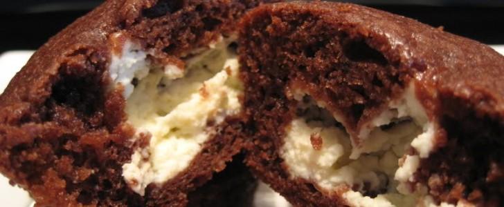 Post image for Chokolade cheesecake muffins