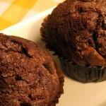 Chokolademuffins med appelsinkrokant