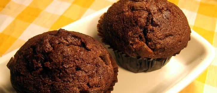 Post image for Chokolade muffins med appelsinkrokant