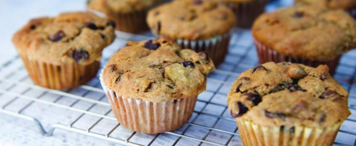 Post image for Muffins med chokolade, banan og nødder