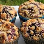 Blåbærmuffins med crumble